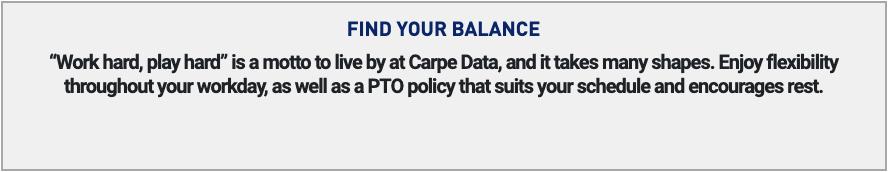 carpe data find your balance