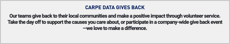 carpe data gives back