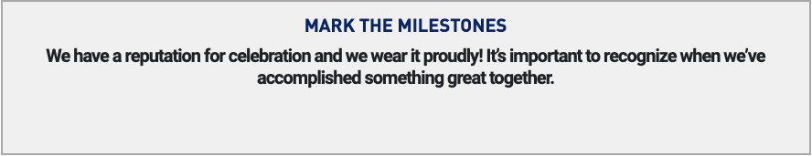 carpe data mark the milestones