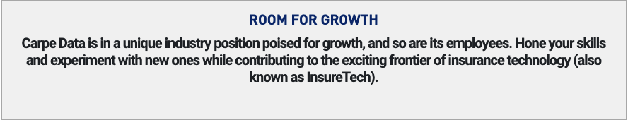 carpe data room for growth